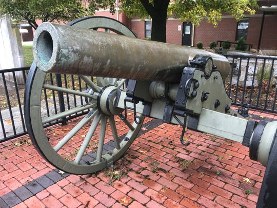 This old cannon was used by the Confederacy in the Civil War. It sits outside the entrance of Walnut Grove High School.