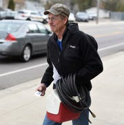 Jan Kaeter, 62, of Cold Spring, leaves work on his last day at Electrolux Friday, Nov. 1, 2019.