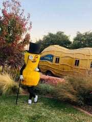 Mr. Peanut takes a break from touring the country to stop at the St. George Art Museum on Oct. 30, 2019.