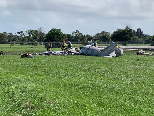 Martin County Sheriff's Office and Martin County Fire Rescue were on scene Friday, Nov. 1, 2019, of a plane crash at Witham Field.