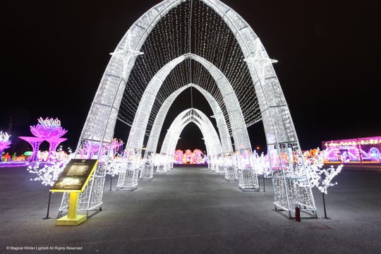 LuminoCity is a new immersive holiday light experience at Randall's Island.