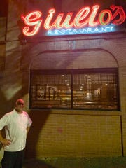 Joey Fiorilli outside Giulio's, the 32-year-old restaurant he took over from his uncle.