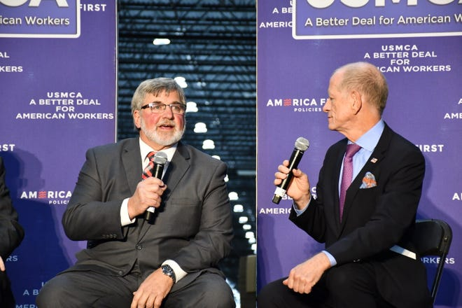 Kenosha County farmer Dave Daniels participated in a panel discussion along with Vice President Mike Pence at a USMCA rally hosted by America First Policies on October 23.
