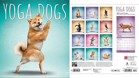 Best gifts for dogs 2019: Yoga Dogs 2020 Wall Calendar
