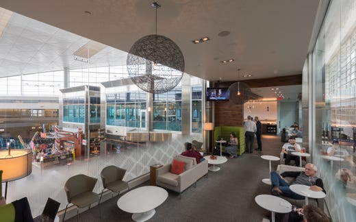 """<strong>Lounges</strong><br /> Airline and airline alliance lounge access is usually available to travelers holding first and business class tickets and to travelers who pay membership or daily fees. <a href=""""https://www.prioritypass.com/"""">Priority Pass</a> and some credit cards offer lounge access. Contact your airline for locations at DFW.<br /> <br /> In addition to airline-branded lounges, DFW is home to <a href=""""https://www.thecenturionlounge.com/locations/DFW/"""">The Centurion Lounge</a>&nbsp; (D12), The free DFW Airport Travel Lounge (B28) and <a href=""""http://shop.theclubairportlounges.com/club-dfw-s/1970.htm"""">The Club</a> at D27 (upper level).<br /> <br /> <a href=""""https://minutesuites.com"""">Minute Suites</a> (Gates <a href=""""https://minutesuites.com/locations/dallas-fort-worth-terminal-a-dfw-a/#"""">A38</a> and <a href=""""https://minutesuites.com/locations/dallas-fort-worth-terminal-d-dfw-d/"""">D23</a>) offers short-stay nap/work/relax rooms. The D terminal location has shower facilities that may be reserved separately."""