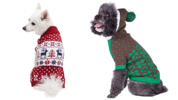 Best gifts for dogs 2019: Blueberry Pet Christmas Family Sweaters for Dogs