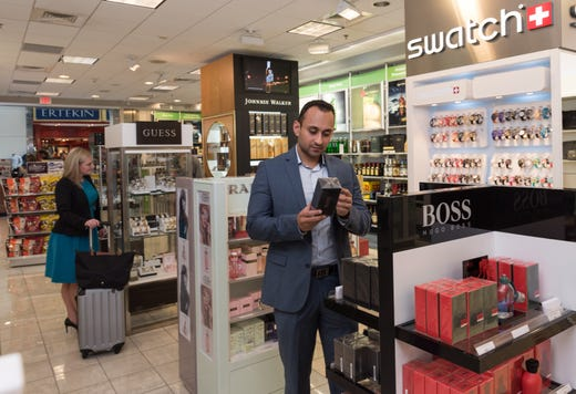 """<strong>Shopping at DFW Airport</strong><br /> In addition to wide variety of Duty-Free Shops and shops selling snacks and sundries, <a href=""""https://www.dfwairport.com/shops/"""">retail shops at DFW</a> include:<br /> <strong>Terminal A</strong>: Benefit Cosmetics, Dallas Cowboys Pro Shop, The Scoreboard (sports memorabilia)<br /> <strong>Terminal B</strong>: Texas Territories and Texas Marketplace (both offer Texas-themed souvenirs)<br /> <strong>Terminal C</strong>: Emmitt Smith Sports,&nbsp; Natalie's Candy Jar<br /> <strong>Terminal D</strong>: Aveda (hair and skincare), The Range (cowboy hats, boots and belt buckles), Whiskey Flight. (cigars and whiskey. Note: the mezzanine over this Duty-Free shop has great tarmac views)<br /> <strong>Terminal E</strong>: Lone Star Attitude (cowboy hats and boots), Texas Marketplace&nbsp;"""