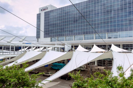 """<strong>Hotels at DFW Airport</strong><br /> There are several hotels on DFW property and many more nearby.<br /> <br /> <a href=""""https://www.dfwairport.com/hotels/index.php"""">On-property hotels at DFW Airport</a> include the Grand Hyatt DFW (Terminal D), which has a rooftop fitness and pool; the Hyatt Regency (Terminal C) and Hyatt Place DFW, inside DFW&rsquo;s Southgate Plaza near the rental car facility.<br /> <br /> <a href=""""https://minutesuites.com/"""">Minute Suites</a> offers short-stay in-terminal suites for napping, working or relaxing. Two locations: <a href=""""https://minutesuites.com/locations/dallas-fort-worth-terminal-a-dfw-a/"""">Terminal A, by Gate A38</a>&nbsp; and <a href=""""https://minutesuites.com/locations/dallas-fort-worth-terminal-d-dfw-d/"""">Terminal D, by Gate D23</a>. Shower facilities are available at the Terminal D location."""