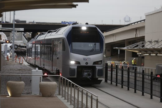 """<strong>Getting to and from DFW</strong><br /> <strong>Location: </strong>DFW Airport is situated halfway between the two major/owner cities of Fort Worth and Dallas.<br /> <br /> <strong>Ground transportation:</strong><a href=""""https://www.dfwairport.com/taxis/index.php"""">&nbsp;Taxis</a>, <a href=""""https://www.dfwairport.com/transport/index.php"""" target=""""_blank"""">shared shuttle vans</a>, <a href=""""https://www.dfwairport.com/transport/index.php"""">ride-hailing services</a> (Uber, Lyft, WINGZ, Alto), limousines and other ground transportation is available at DFW Airport.<br /> <br /> <strong>Bus:</strong>&nbsp;<a href=""""https://www.dfwairport.com/publictransit/index.php"""" target=""""_blank"""">Dallas Area Rapid Transit</a> (DART) rails service connects travelers to Dallas neighborhoods both north and south of DFW Airport. Trains leave from Terminal A. <a href=""""https://www.dart.org/fares/fares.asp"""" target=""""_blank"""">Find DART fares/hours</a>.<br /> <br /> <strong>Rail:</strong>&nbsp;<a href=""""https://www.dfwairport.com/publictransit/index.php"""" target=""""_blank"""">TEXRail</a> connects DFW travelers to downtown Fort Worth and surrounding landmarks and more. The trains depart from Terminal B.<br /> <br /> <a href=""""https://www.dfwairport.com/publictransit/index.php"""">Trinity Railway Express</a> (TRE) offers service from Dallas to Fort Worth. <a href=""""https://trinityrailwayexpress.org/eastbound-weekday/"""" target=""""_blank"""">See TRE schedules and stops</a>."""