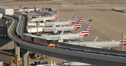 """<strong>Getting around DFW &ndash; Post-security </strong><br /> All terminals are connected post-security and accessible the free <a href=""""https://www.dfwairport.com/connect/"""" target=""""_blank"""">Skylink light rail train</a>. You can walk between DFW's five terminals, but keep in mind that each has an average of 39 gates. But the maximum ride time between the farthest points on the Skylink is 9 minutes."""