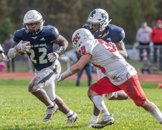 Mater Dei football closes down Manalapan offense in Middletown, NJ on November 2, 2019.