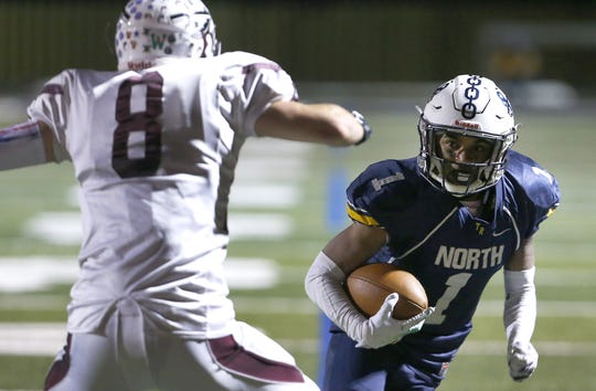 Toms River North vs Toms River South High School football game at Toms River North High School. Friday, November 1, 2019. Toms River,NJ  Noah K. Murray-Correspondent/Asbury Park Press