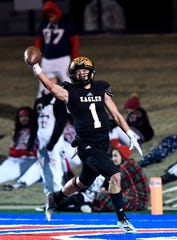 Abilene High defensive back Colton Wilson scores a touchdown on a kickoff return against Euless Trinity during Friday's game at Shotwell Stadium Nov. 1, 2019. Final score was 42-21, Euless Trinity.