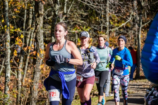 Competitors ran a 17.8-mile trail race along the Blue Ridge Parkway at the Shut-In Ridge Trail Race on Nov. 2, 2019.