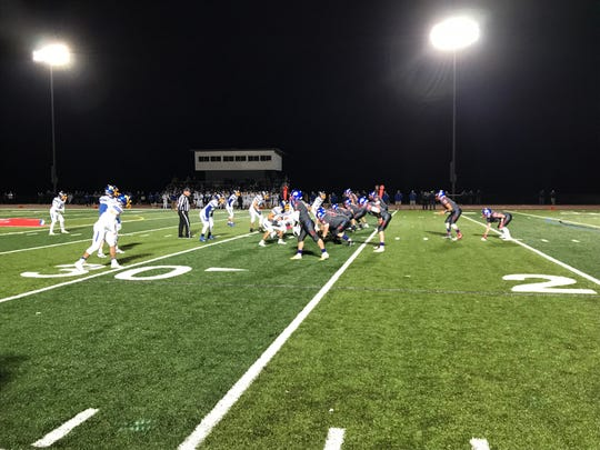 Owego on the attack against Maine-Endwell, Nov. 1, 2019.
