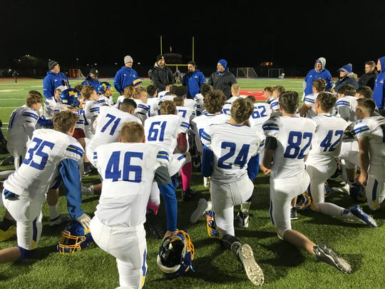 Maine-Endwell wraps things up postgame, Nov. 1, 2019 at Owego.