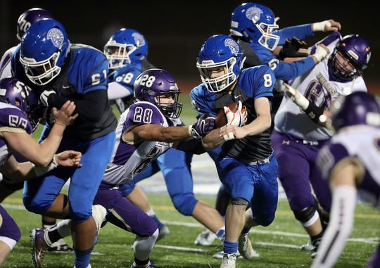 Olympic's Trent Feistner was one of two West Sound running backs to finish with over 1,000 rushing yards this season.