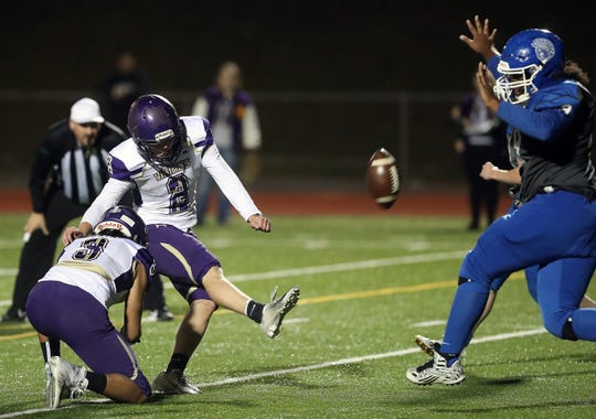 Colton Bower played multiple positions for North Kitsap's football team in 2019, including quarterback, defensive back, kicker and punter.