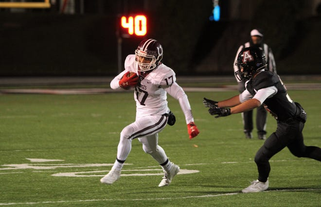 Owen junior Dequan Boyce picked up 130 yards on 10 carries in the Warhorses' 54-32 win over Avery, Nov. 1.
