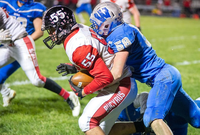 Bryant Pfeifer is one of just two starters returning for Bucyrus this season on the football field.
