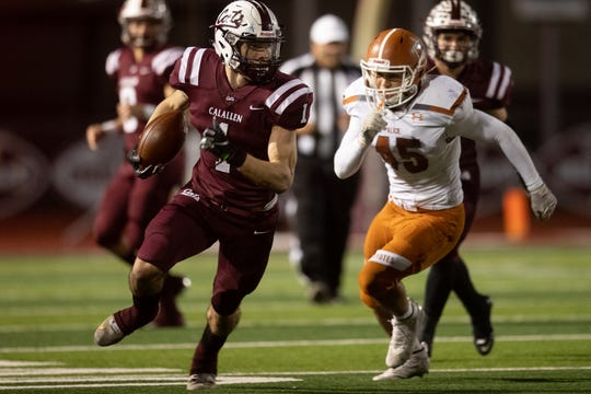Calallen defeats Alice 38-25 at Calallen High School on Friday, Nov. 1, 2019.