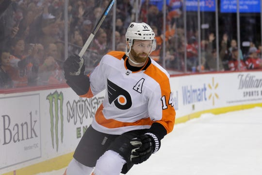 Sean Couturier is dealing with an injury that's kept him from taking many faceoffs recently.