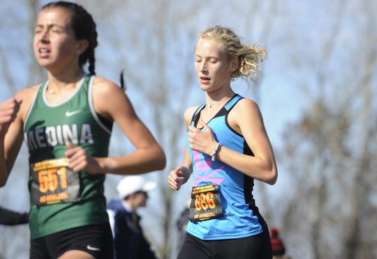 Chillicothe cross country's Laikin Tarlton finished 106th in the Division I Girls State Cross Country Championships with a time of 19:52.1 on Nov. 2, 2019 at National Trail Raceway in Hebron, Ohio.