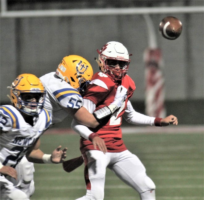 Beechwood QB Cameron Hergott follows through on a pass as Newport Central Catholic traveled to Beechwood for a football game featuring Northern Kentucky's top two small-school powers, Nov. 1, 2019, at Beechwood.