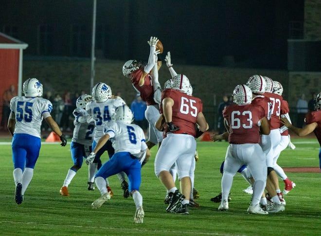 The Middlesex and Bernards high school football teams met Friday night at Olcott Field.