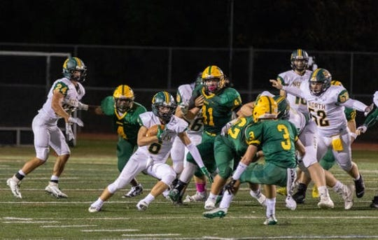 Jake Taylor scored a touchdown for North Hunterdon on Friday