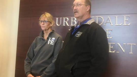 Jayne and Randy Martin, the parents of an Urbandale officer killed in the line of duty three years ago, said a new memorial plaque is just another example of the kindness the Urbandale community showed them after their son's death.