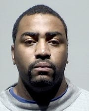 Chancellor Searcy, a then-Detroit police officer, in a photo provided by the Detroit Police Department in 2015, when he was charged with multiple counts, including embezzlement, larceny and false report of a felony. He was later acquitted by a jury.