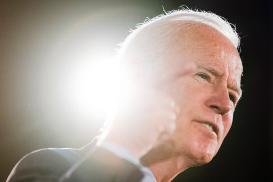 Democratic presidential candidate former Vice President Joe Biden speaks during a campaign event, Wednesday, Oct. 23, 2019, in Scranton, Pa.