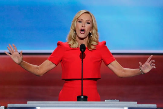 FILE - In this July 18, 2016 file photo, Pastor Paula White delivers the benediction at the close of the opening day of the Republican National Convention in Cleveland.