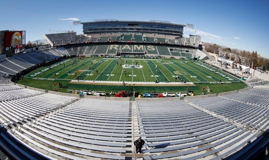 A look at Canvas Stadium, the home of Colorado State, on Saturday, Nov. 2, 2019, in Fort Collins, Colo.