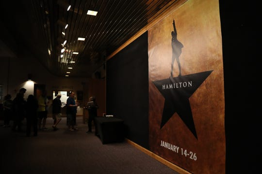 Hamilton fans wait to get tickets at Barbara B. Mann Performing Arts Hall in Fort Myers on Saturday, November 2, 2019.