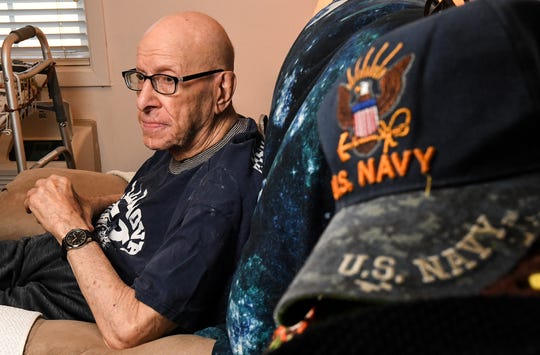 Joe Casolaro of Anderson talks about his role in the U.S. Navy during World War II and the life he had after that from his home in Anderson Saturday.