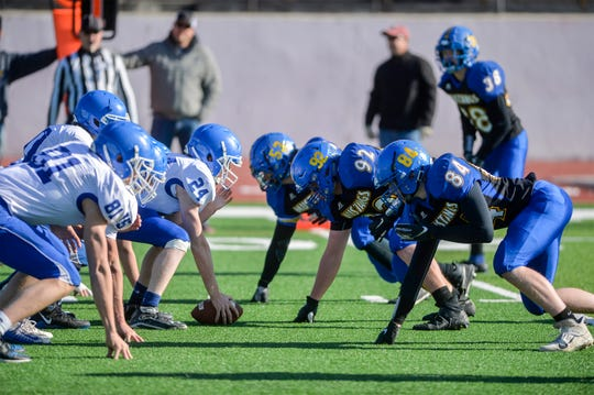 Great Falls Central Catholic football hosts Carter County in Saturday's 8-man playoff game at Memorial Stadium.