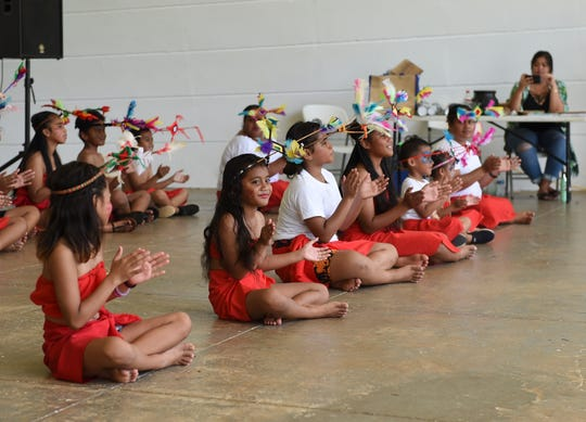 The Fonueisom Group of Chuuk perform for the 33rd annual FSM Independence Day celebration at Gov. Joseph Flores Beach Park in Tumon, Nov. 2, 2019.
