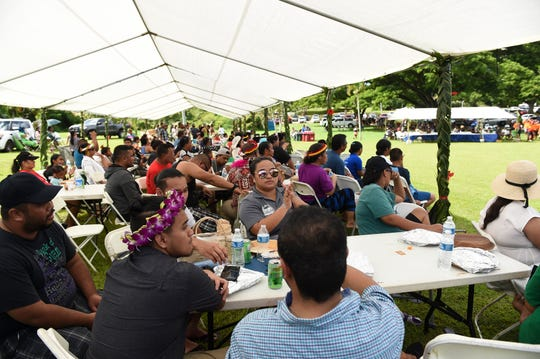 Guam's FSM community and others gather to celebrate the 33rd annual FSM Independence Day event at Gov. Joseph Flores Beach Park in Tumon, Nov. 2, 2019.