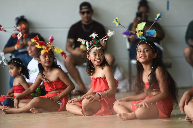 The Fonueisom Group of Chuuk perform for the 33rd annual FSM Independence Day celebration at Gov. Joseph Flores Beach Park in Tumon in this Nov. 2, 2019, file photo.