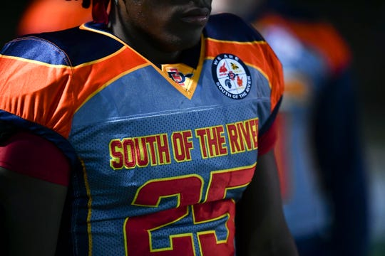 South-Doyle's Nate Adebayo (25) in special jersey of rhte game with Powell on Friday, November 1, 2019.