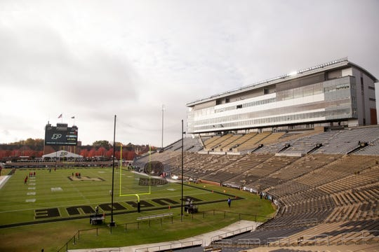 Ross-Ade Stadium prior to a NCAA football game between the Purdue Boilermakers and the Nebraska Cornhuskers, Saturday, Nov. 2, 2019 in West Lafayette.
