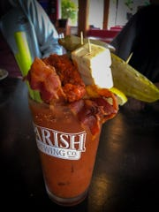 Wing Fingers' Bloody Mary goes all out.