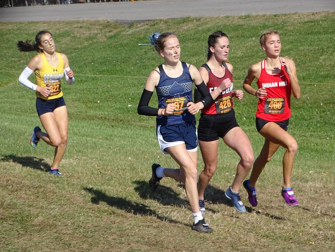 Fairfield Union's Madison Eyman competes in Saturday's Division II state meet at National Trail Raceway.