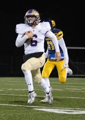 Fowlerville's Hunter Knaggs outruns the Goodrich defense for a 95-yard touchdown on Friday, Nov. 1, 2019.