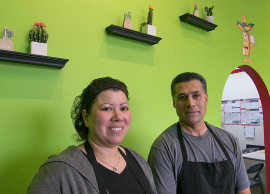 Carolyn and José Salazar, shown Friday, Nov. 1, 2019, are the owners of the newly opened Two Tostadas restaurant in Lyon Township,