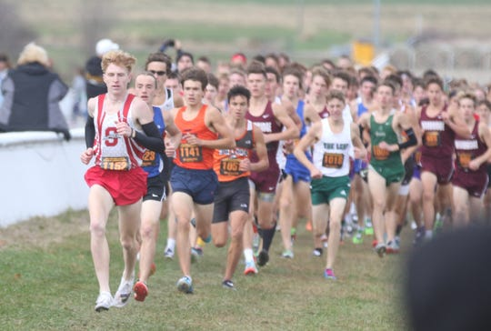 Shelby's Caleb Brown won a Division II individual state cross counrty title on Saturday.