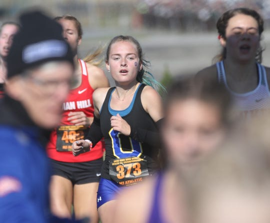 Ontario's Grace Maurer finished her career as an All-Ohioan with an 11th-place overall finish at the state cross country meet.