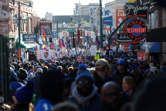 "Beale Street was full as ESPN's ""College GameDay"" came to Memphis on Saturday, Nov. 2, 2019."